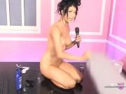 Atlanta Moreno - Vibrator and baby oil live show