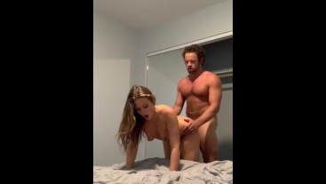 Teen model Febby Twigs filmed fucking for the first time with Brad Newman