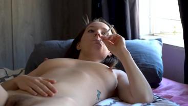 Enjoy My Perky Tits While I Smoke