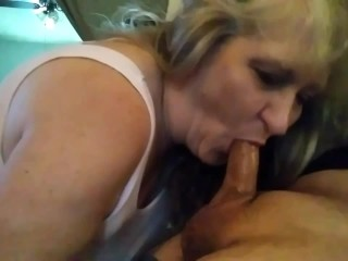 Stepmom swallows my cock any time I want