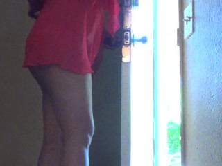 Showing my goods to the pizza guy. Do you think he liked it?