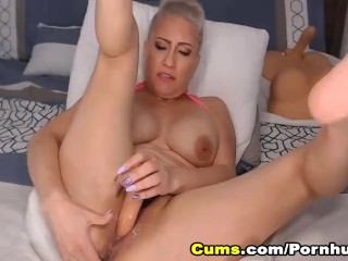 Huge Tits Babe in a Hot and Intense Masturbation Show