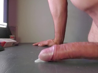 Table humping long frustrating with one handless and jerking cumshot