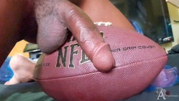 Solo masturbation | football tribute fetish play and anal toy