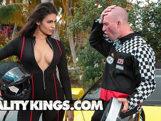 Reality Kings Latina poar Katana Kombat loves fast car Katana Kombat