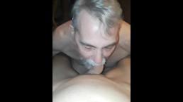 Bearded daddy sucking twinks 9 inch cock