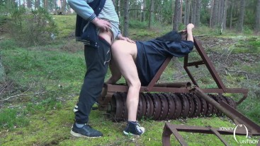 Tied, dominated and hairy pussy ploughed on a plough
