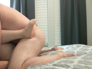 Big Guy Fucking Milf with Hitachi Missionary Style-Little muscle couple