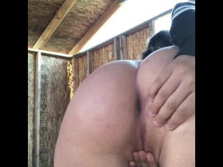 Public Gets Caught video: madi_laine does public masturbation on a construction site and gets caught