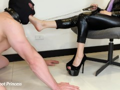 Femdom Slave Foot Worship | Little Foot Princess