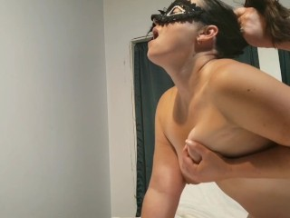 Amateur Milf gets pounded and takes a big shot to the face