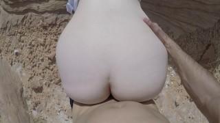 Risky POV Outdoor Sex In Desert Canyon JAKEANDHOLLY