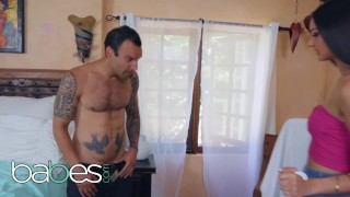 Babes - Petite flexible Eliza Ibarra deepthroats and filled by big dick