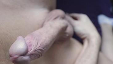 Closeup Cock Stroking & Ballplay with Slow Motion Cumming