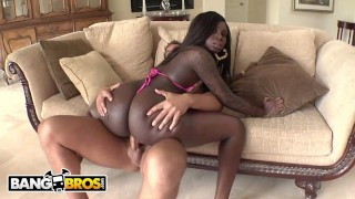 BANGBROS - Big Booty Black Babe Tatiyana Foxx Taking White Cock From Rocco