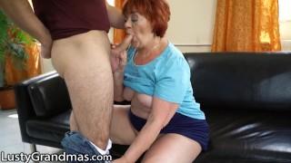 LustyGrandmas Mature Cougar Caught Touching her Box