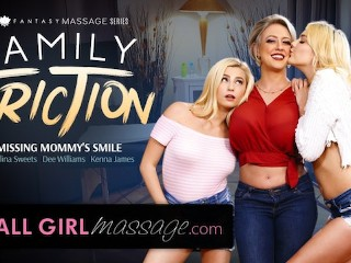 AllGirlMassage Lesbian StepDaughters Massage MILF Mommy Carolina Sweets, Dee Williams, Kenna James
