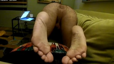 Hairy Butt Daddy Pushing Spread Asshole In Your Face