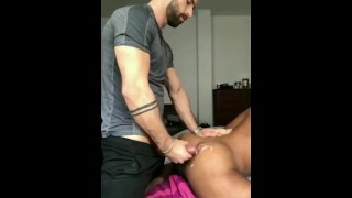 Straight guy fucked a tight ass and cum in his bum cheeks