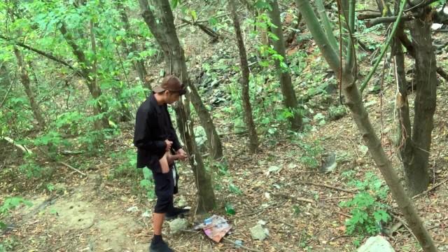 Yalta gay cruising areas - Hidden cam caught masturbation at a cruising area with condoms on a tree