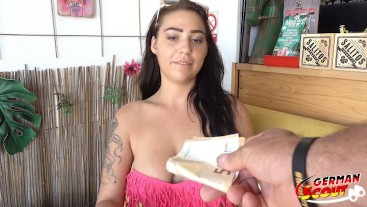 GERMAN SCOUT I HANGING TITS TEEN JULY I REAL PUBLIC PICKUP CASTING SEX
