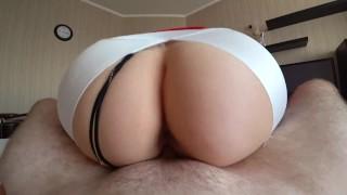 Big Ass girl fucked through yoga pants