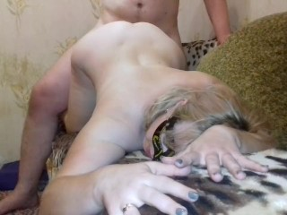 Homemade fucking chubby wife. part 3. doggystyle