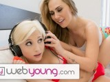 WebYoung Caught my Lesbian Step-Sister Huffing my Panties