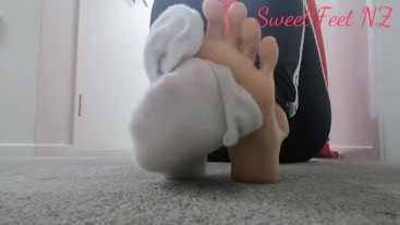 White Socks to satisfy your Foot Fetish