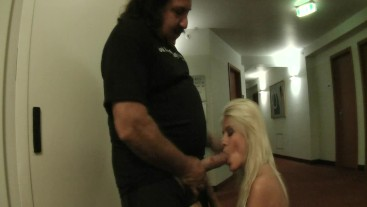 Jasmine Rouge fucked by Ron Jeremy in the hotel room