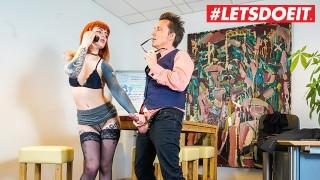 LETSDOEIT – Tattooed German Secretary Takes Good Care Of Her Boss's Cock