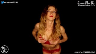 SPEED JOI Jerk Off Instruction FemDom - Training you to Cum on My Command Goddess Nikki Kit