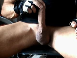 male masturbation at gym