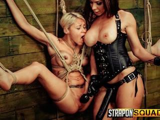 Strap On Squad Marsha May Endures Lesbian Rope Bondage with Kylie Rogue Marsha May
