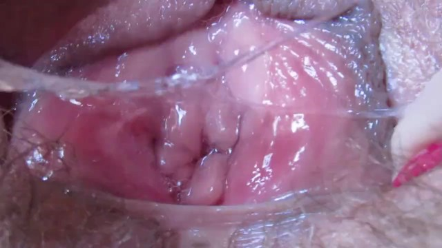 Dripping vagina masturbations - Wet vagina pussy after orgasm in extreme close up hd