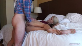 blonde spinner, manhandled and creampied