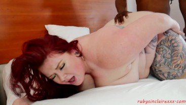 Busty Redhead Ruby Sinclaire meets BBC Stud the Chocolate Dropper
