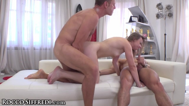 Rocco & Marco Double Team Lilit Sweet with Big Dicks at Casting