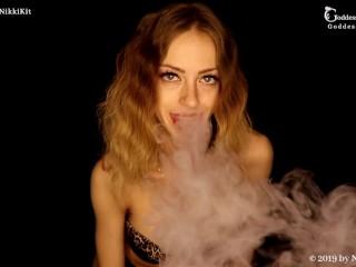 Edging Only When I Exhale My Vape Smoke FEMDOM JOI by Goddess Nikki Kit