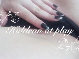 Huldran at play - Solo Masturbation with Dildo