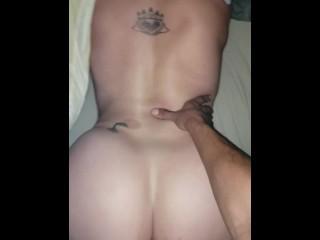 Big bootie bottom taking big cock