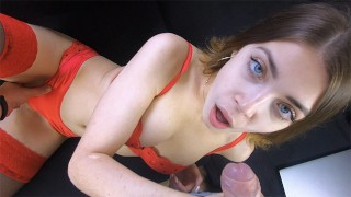 I love slobbering deepthroat blowjob and playing with his cum in my mouth
