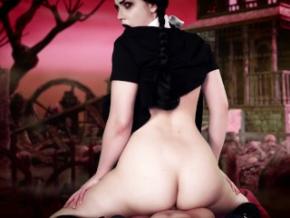 A Date With Wednesday Addams POV Dildo Riding Veronica Chaos