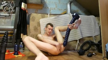 huge dildos, rosebud, self fisting and jerking with my BALLS in my hole !