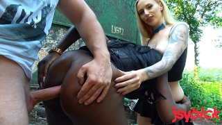 Outdoor anal with 2 sexy hookers from the street | Josy Black & Lucy Cat