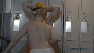 LOCKER ROOM ORGY - RYAN RUSSELL TRENT KING BEAU REED COOPER ROADS P1