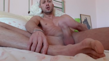 a horny guy masturbates in front of the phone...Jackoff