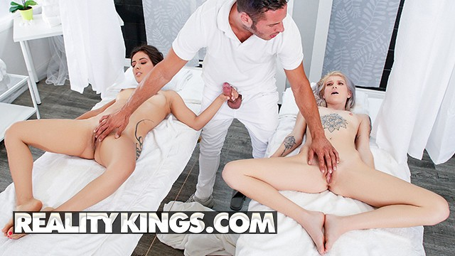 Reality Kings Lesbian Couple Massage Ends In Threesome