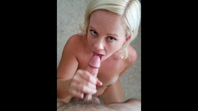 Blow cum job messy shot - She loves to swallow. pov fucking and blow job ends with a messy face.