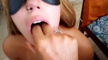 BDSM, SPLIT, SPANK FACE, DEEP THROAT AND CUM SWALLOW (FIRST VIDEO 18 YEARS)
